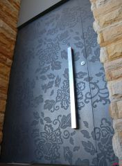 laser engraved floral door inspiration