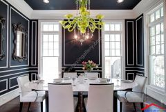 contemporary dining room with crown molding And wainscoting I G ISp9om51lzm6iq0000000000 dQ9bG