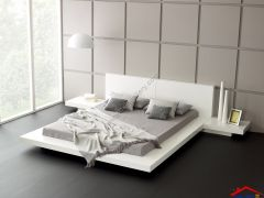white Low Bed design