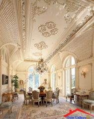 traditional dining room with french doors And crown molding I G ISd8ftbw2c79dg0000000000 N86yA